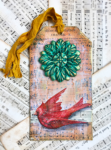 Paper clay holiday tag