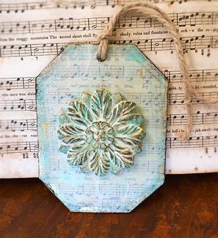 Paper clay medallion tag
