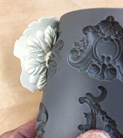 Unmolding paper clay