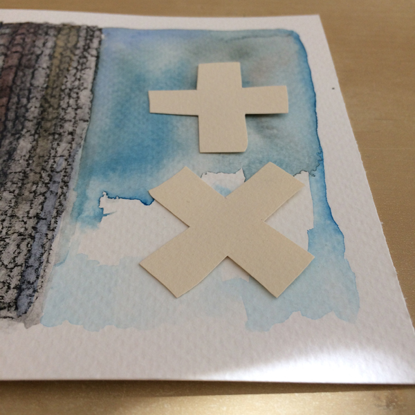 glue and foil with heat step 1