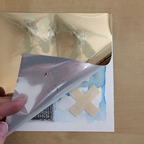glue and foil with heat step 3