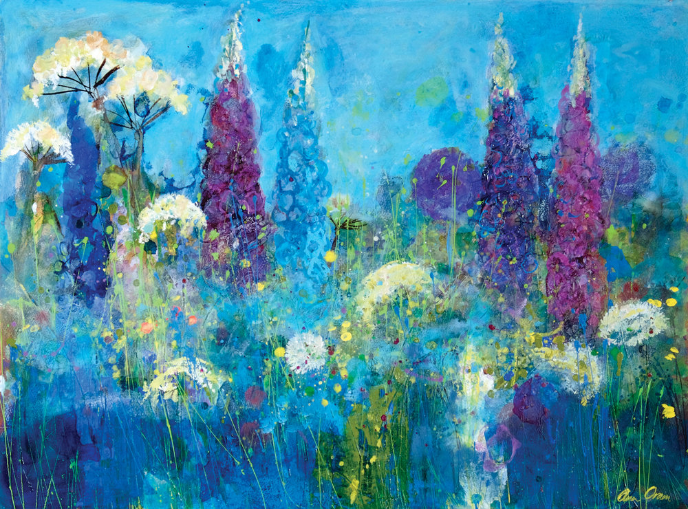 pastel_with_mixed_media_floral_delphinium-and-cow-parsley_ann-oram | artistsnetwork.com