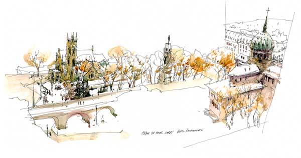 Urban sketching ideas | Marc Taro Holmes, ArtistsNetwork.com