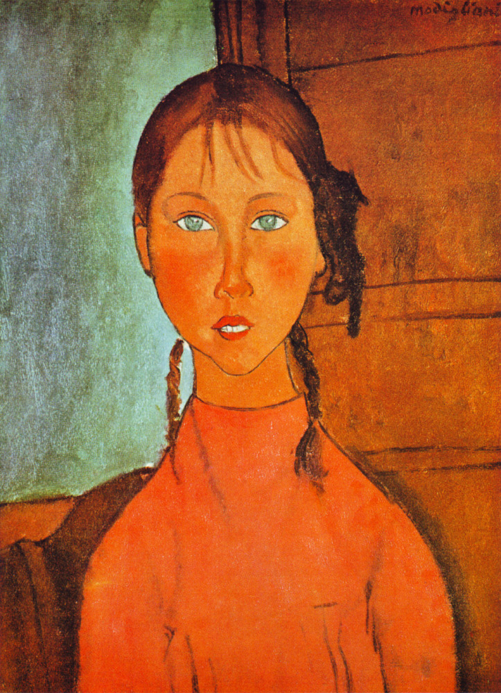 Womens portraits: Amedeo Modigliani -- Girl with Braids