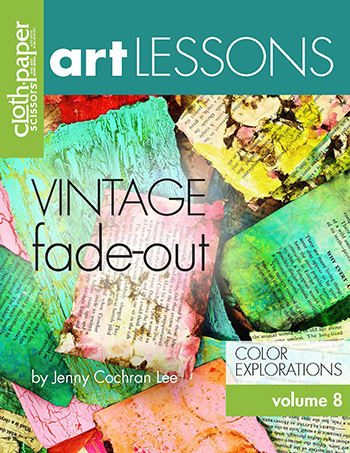 Discover background techniques for plain and found papers in Art Lessons Volume 8: Vintage Fade-Out