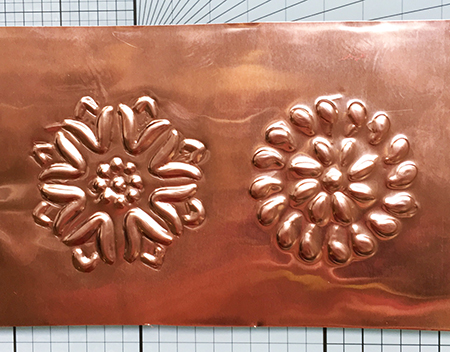 Creating edges for metal embossing
