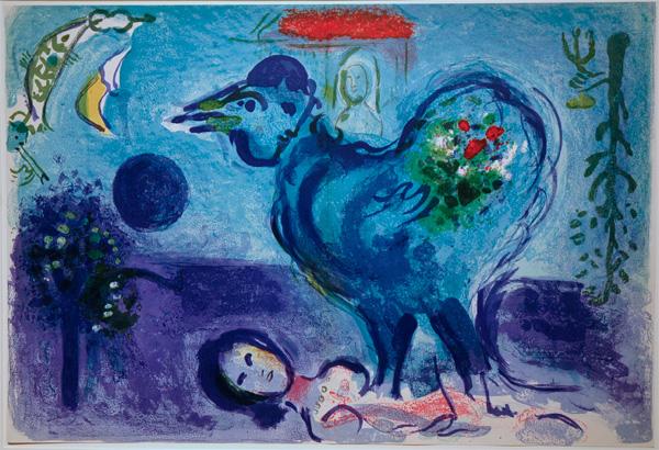 Chagall_Paysage_Coq2