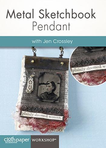 Metal Sketchbook Pendant with Jen Crossley