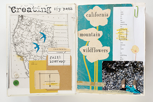 Handmade book by Nichole Rae from Art Journal Art Journey