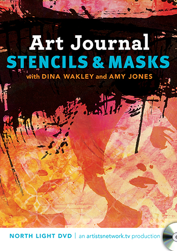 Learn background techniques in this Art Journals Stencils & Masks video with Dina Wakley