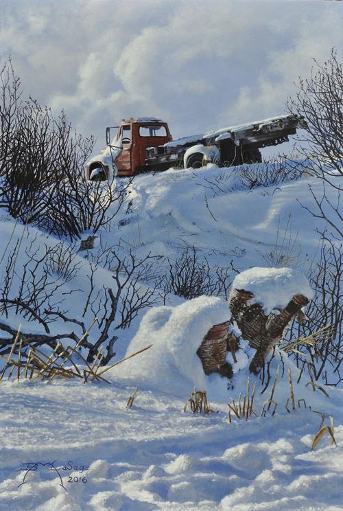 Winter Relic by Brian LaSaga, Acrylic Artist
