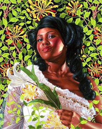 Women portraits--artwork by Kehinde Wiley.