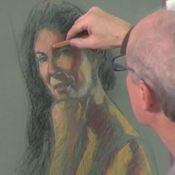 Pastel Portrait Demonstration: Painting from Life with Brian Keeler | ArtistsNetwork.com