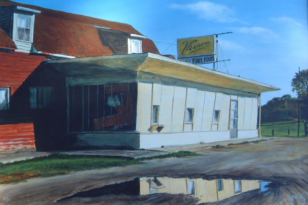 Reflections of a Diner (20x30, acrylic on board) William Brody, acrylic artist
