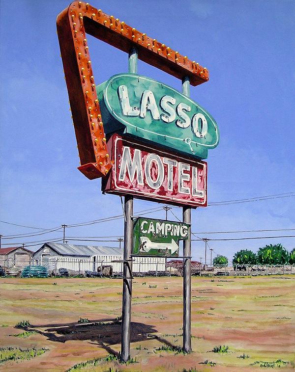 Rt 66 Lasso, Bernie Hubert. Acrylic Artist
