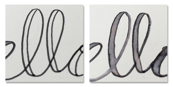erase lines with water brush