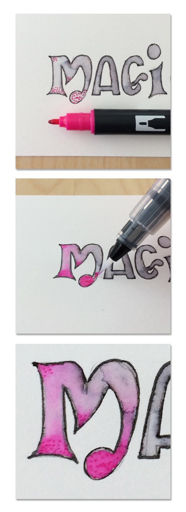 Add color inside lettering