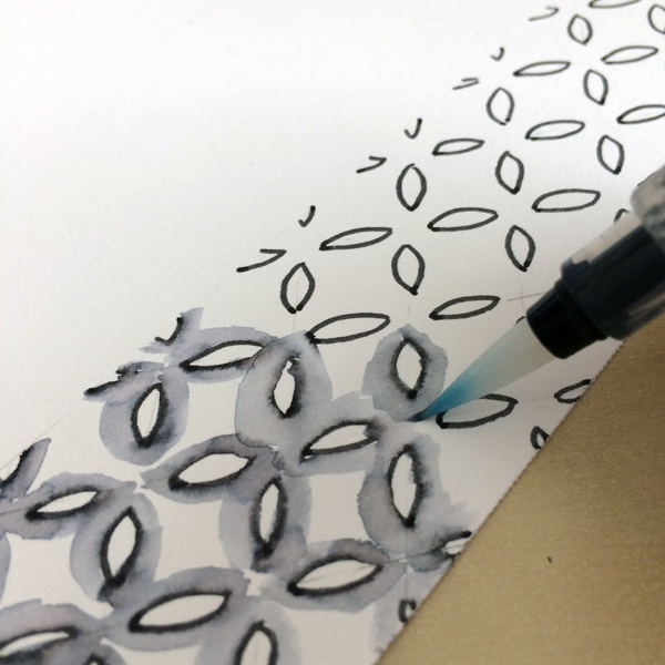 Activate pen with water brush