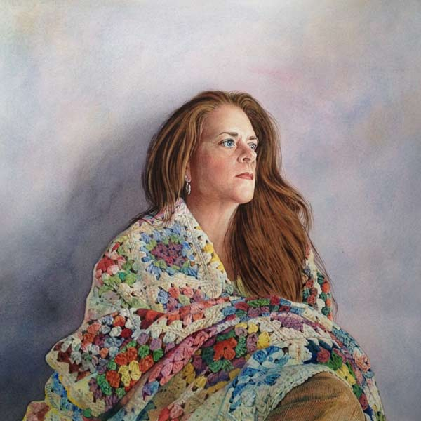 Comfort Zone (watercolor) by Lisa O'Regan | watercolor portraits
