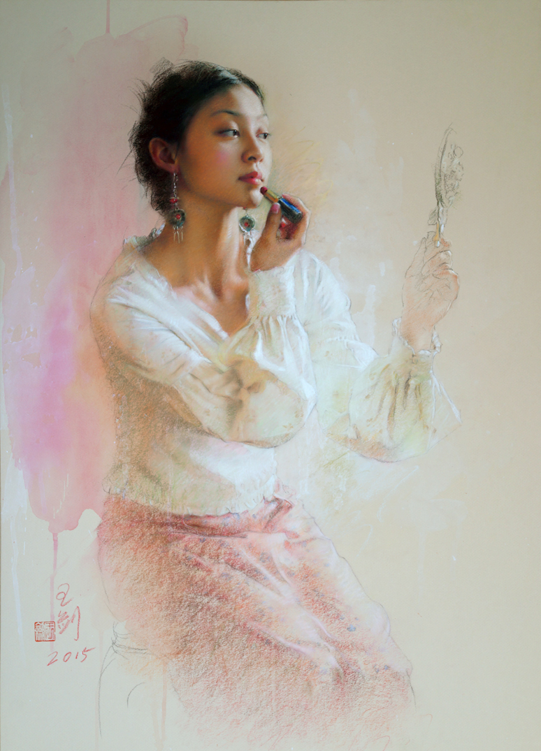 18th_Pastel_100_Award-of-Excellence_Jian-Wang_Lipstick_29.5x21