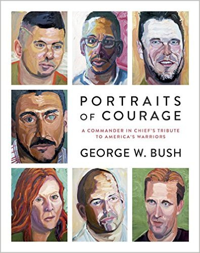 66 oil portrait paintings are featured in the book, which is part of the former president's veterans initiative.