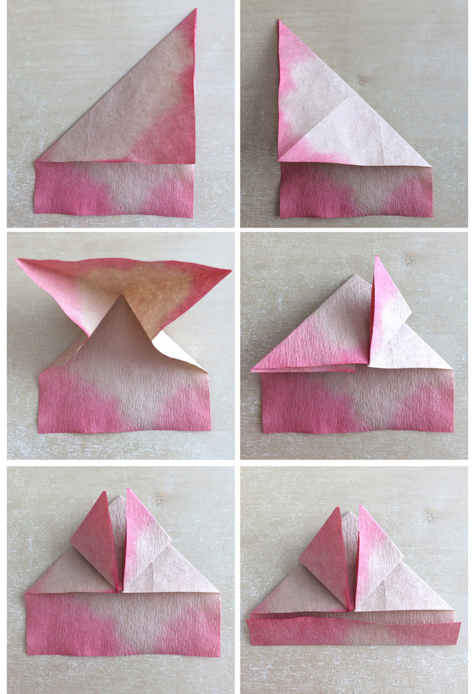 An ombre origami art project perfect for your favorite valentine origami steps 1 6 jeuxipadfo Images
