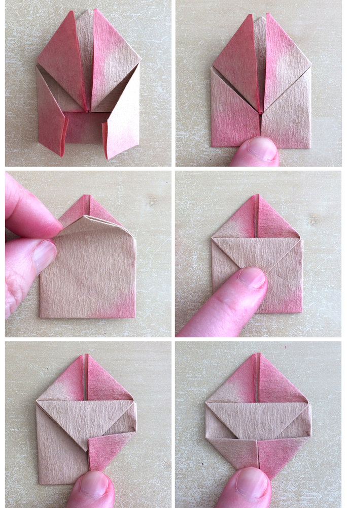 An ombre origami art project perfect for your favorite valentine origami steps 7 12 jeuxipadfo Images
