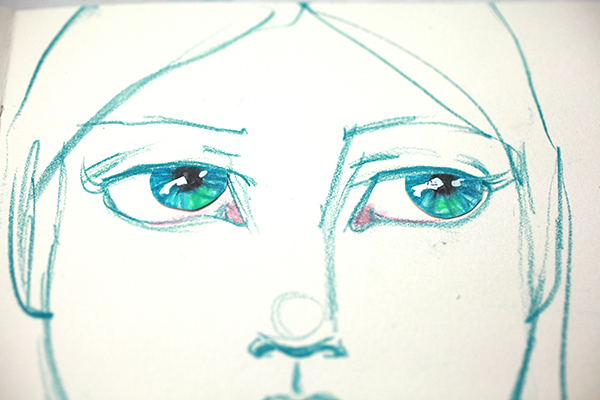 The position of the irises can dramatically alter a face.