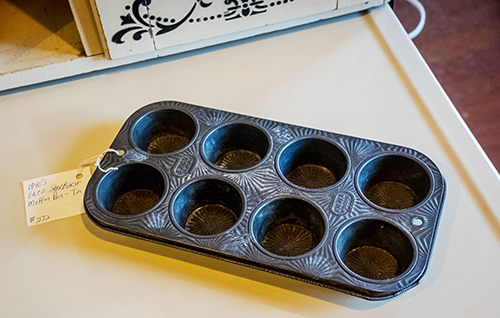 Muffin tin for vintage art supplies