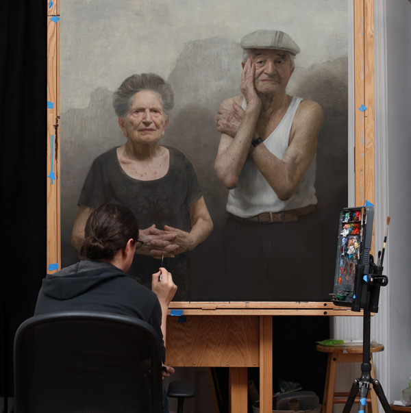 Portraits of Holocaust Survivors: D.J. Kassan paints Louise and Lazar Farkas | ArtistsNetwork.com