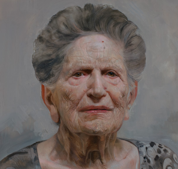 Portraits of Holocaust Suvivors-in-process detail of Lazar and Louise Farkas by David Jon Kassan | ArtistsNetwork.com
