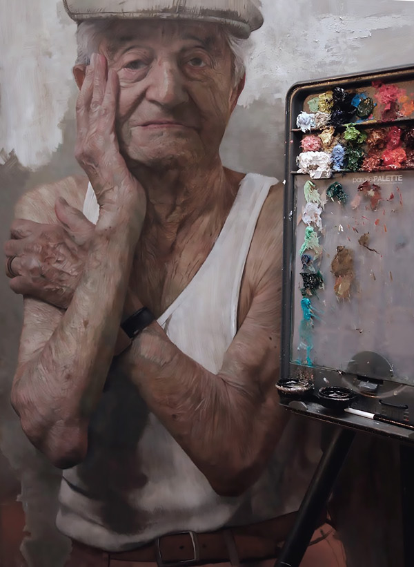 portraits of Holocaust survivors: Lazar Farkas by David Jon Kassan | ArtistsNetwork.com