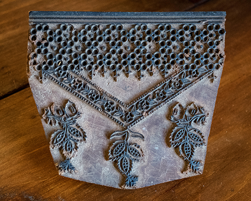 Vintage carved wooden print block