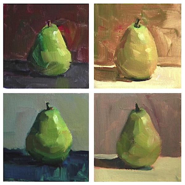 find painting success by setting up a simple still life