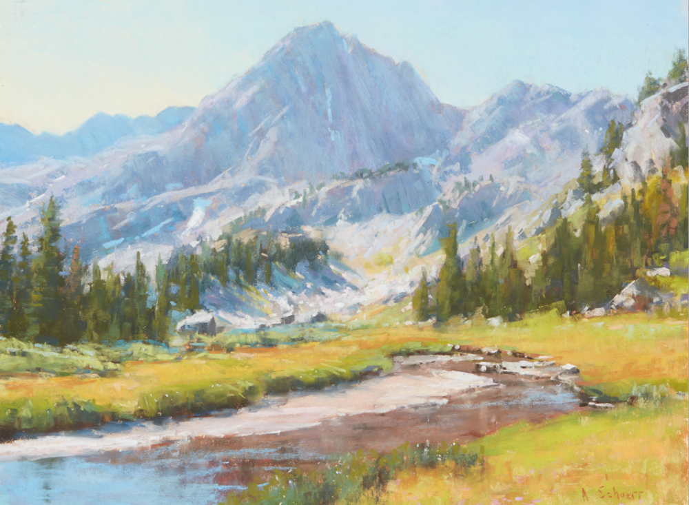 Painting Sample from Composition for Landscapes with Aaron Schuerr