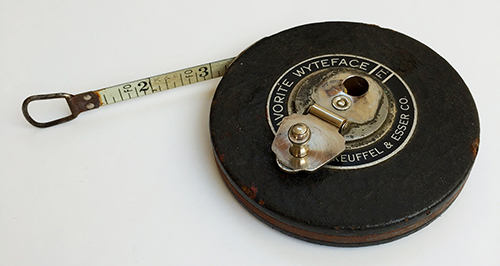 Vintage metal tape measure