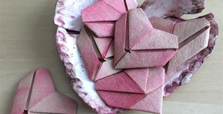 Ombre Origami Valentines | DIY Valentine | Valentine's Day | Artists Network