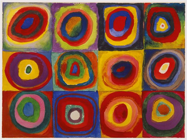 Color Study: Squares with Concentric Circles by Wassily Kandinsky, 1913.