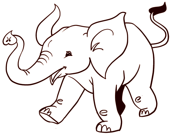 How To Draw An Easy Elephant