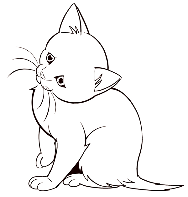 How To Draw Animals Easy Kitten