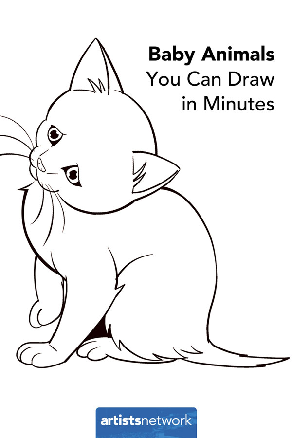 how to draw animals easy kitten artistsnetworkcom