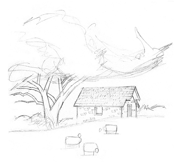Landscape drawing tutorial mark willenbrink artistsnetwork com
