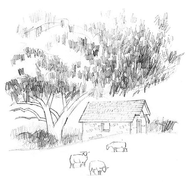 Landscape drawing tutorial | Mark Willenbrink, ArtistsNetwork.com