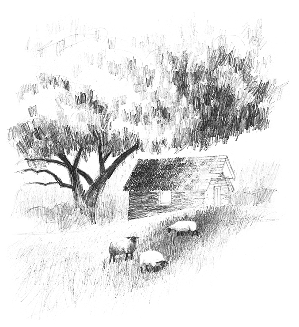 Landscape drawing tutorial | Mark Willenbrink, ArtistsNetwork.com
