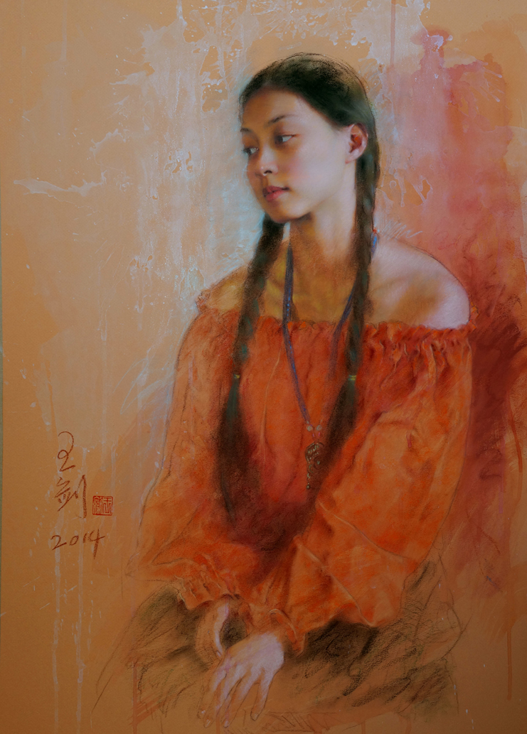 pastel_painting_jian_wang_portrait3_55x75cm