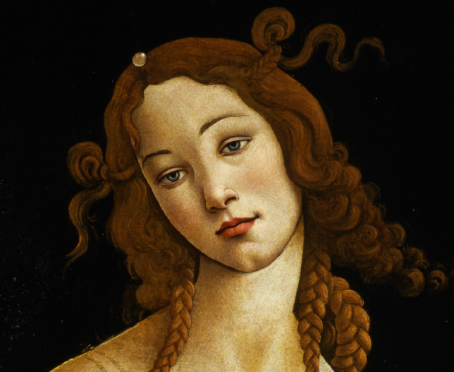 No need to see the art online--it's coming to America. Venus by Sandro Botticelli, detail.