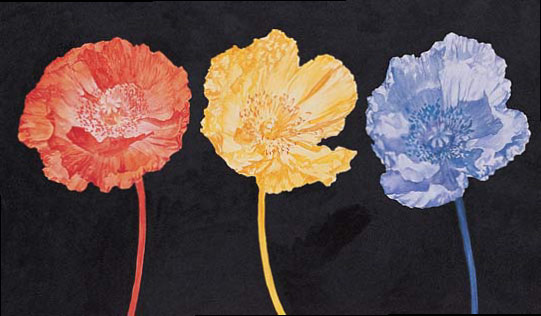 Flower paintings that combine interesting color concepts allow the works to stand out!