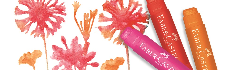 Painting supplies: Faber-Castell's Gelatos are adaptable across many surfaces and add a pop of color to calligraphy, mixed media, and pen and ink creations.