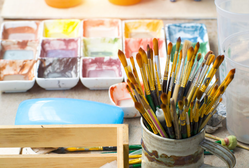 Photo of art supplies courtesy of Getty Images | | Exploring Watercolor and Gouache | Cassia Cogger | Artists Network