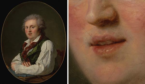 Painting the Mouth: Portrait of Laurent-Nicholas de Joubert by François-Zavier Fabre, plus detail; digital images courtesy of the Getty's Open Content Program | ArtistsNetwork.com